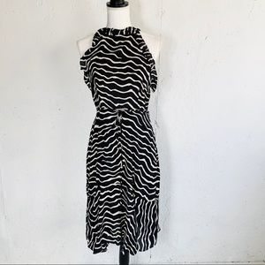 NWOT Who What Wear HighNeck B&W Sleeveless Dress S